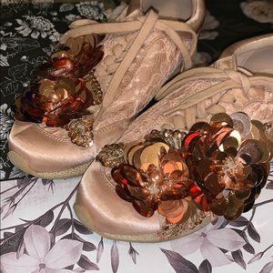 Totally unique shoes peach color